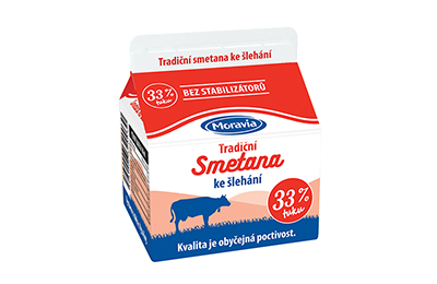 Smetana ke šlehání 33 % Moravia 250 ml