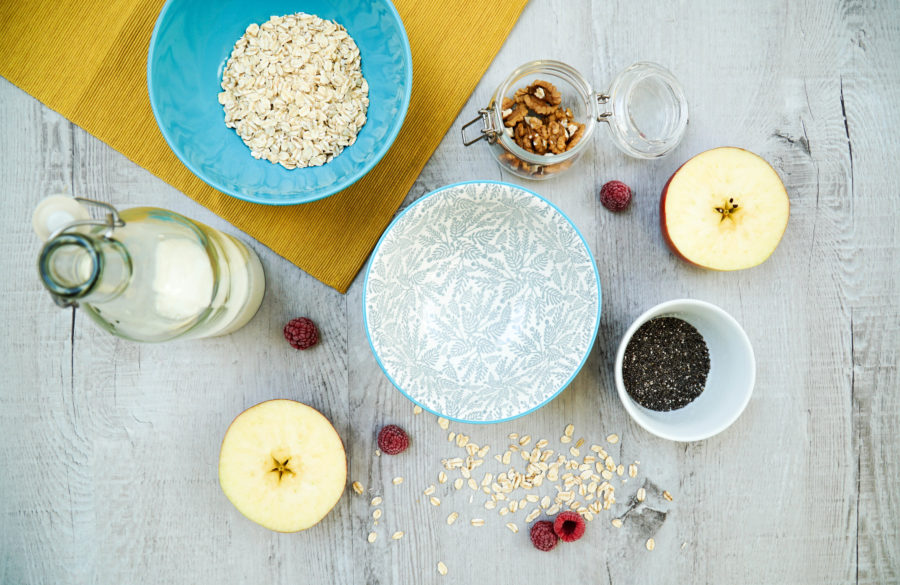 Bircher muesli ingredience
