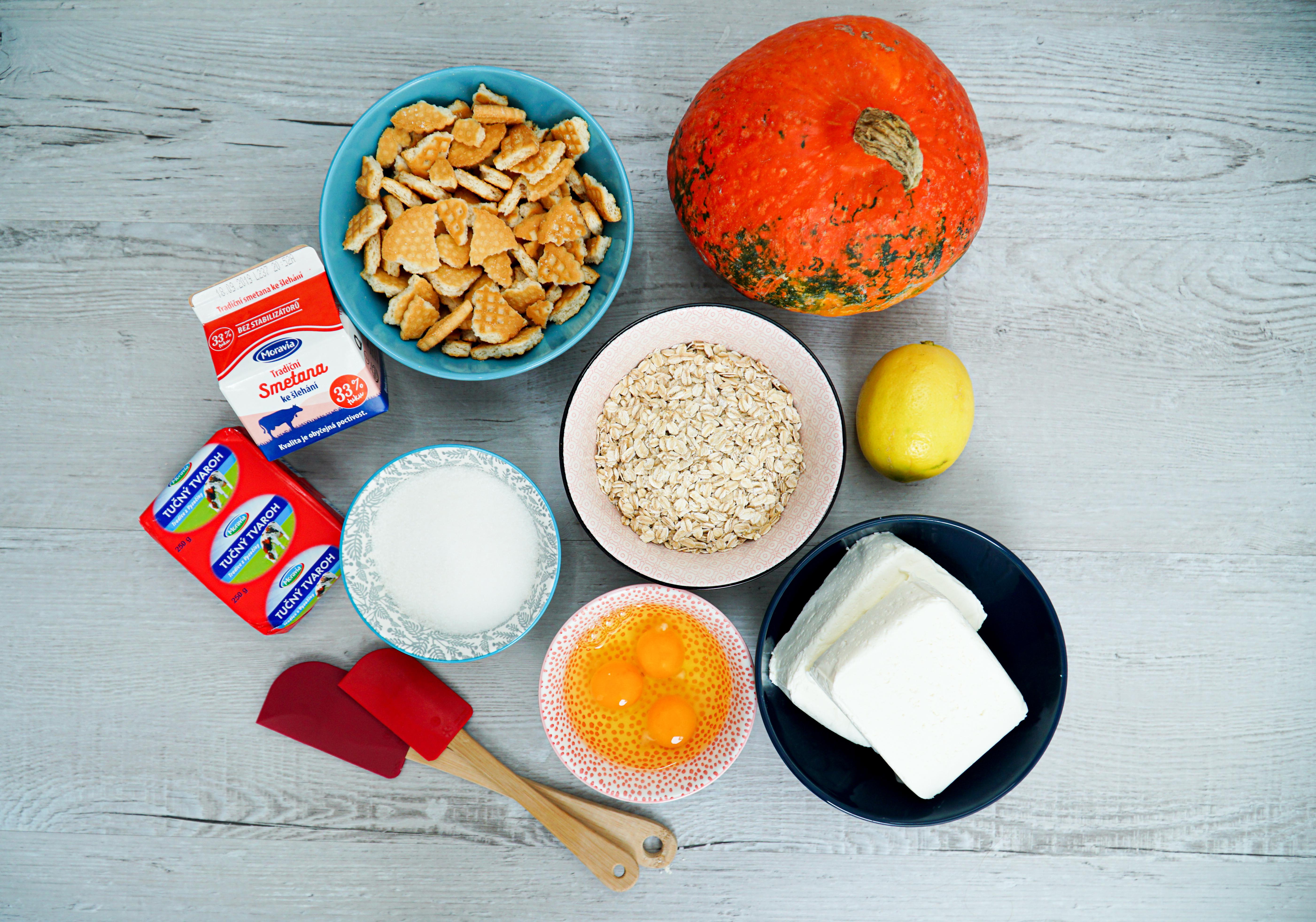 Dýňové tvarohové řezy ingredience