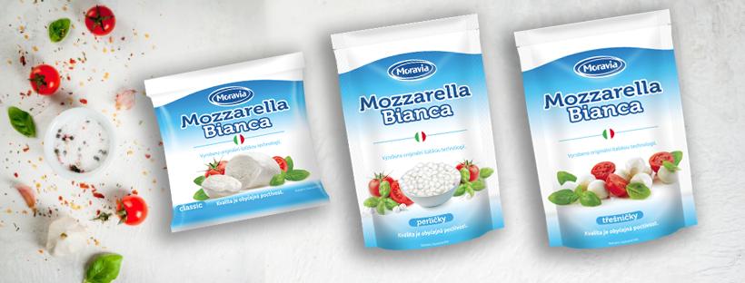 Mozzarella Bianca, italská technologie, české mléko.