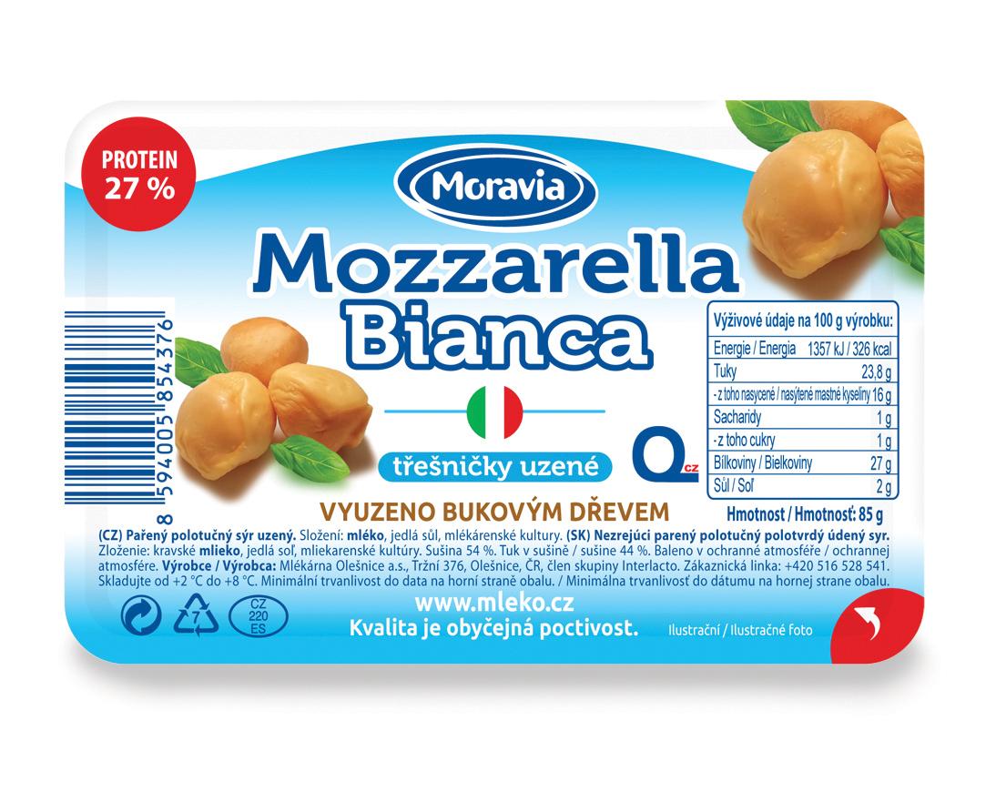 Mozzarella Bianca Třešničky uzené