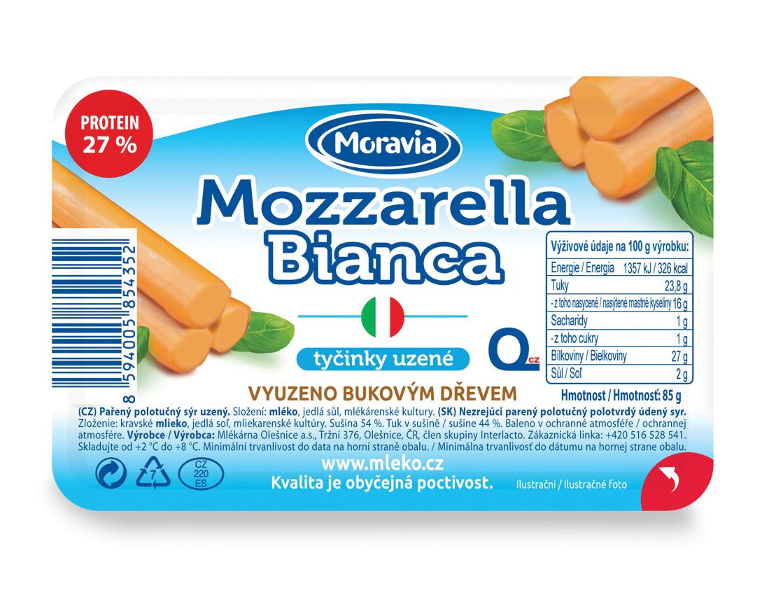 Mozzarella Bianca Tyčinky uzené