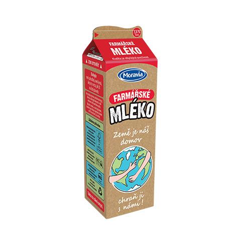 Farmářské mléko v ekologickém obalu