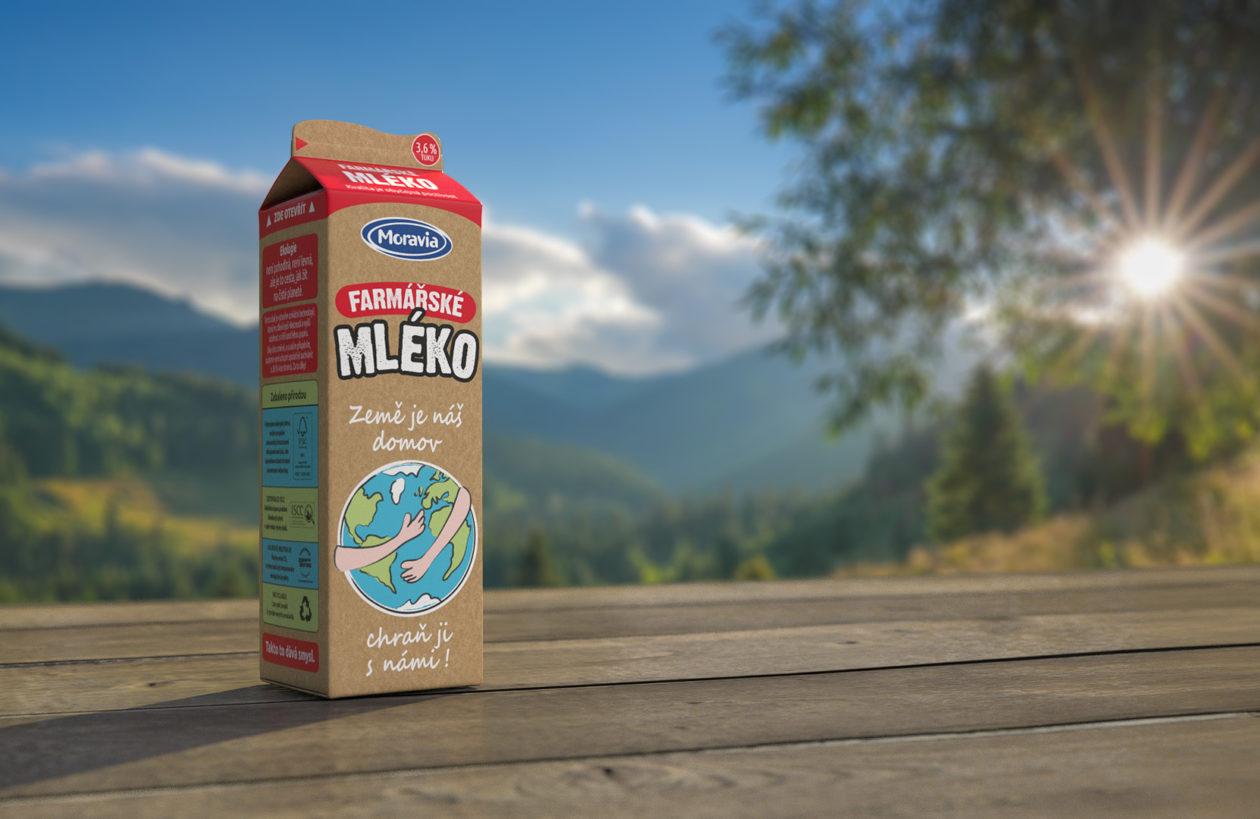 Novinka Farmářské mléko vekologickém obalu
